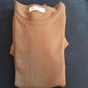 Calvin Klein short-sleeve cashmere sweater